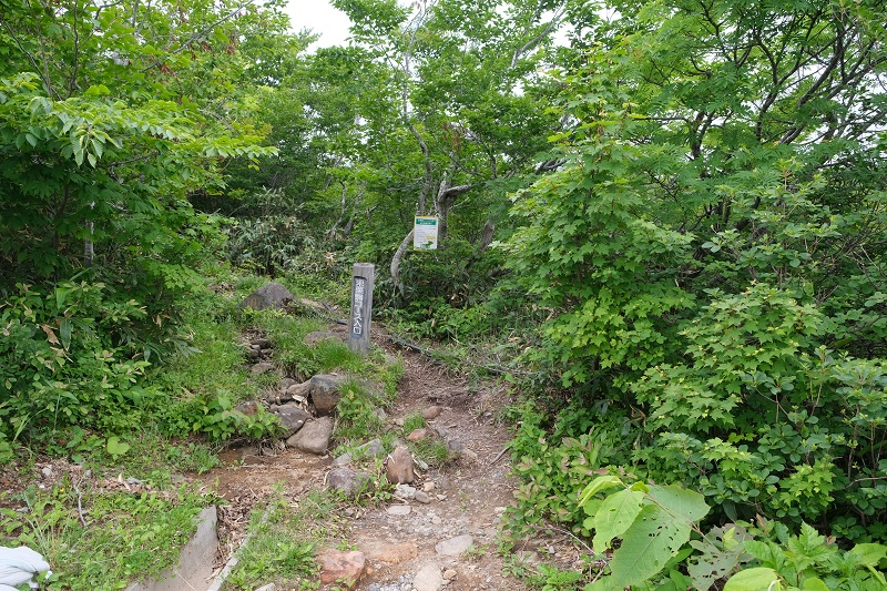 栗駒山東栗駒コース登山道の入り口風景写真